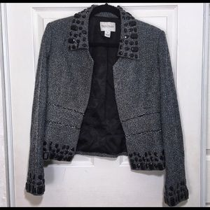 White House Black Market Black and Grey Blazer